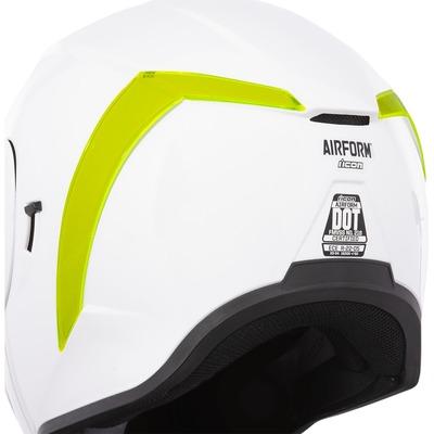 Spoiler arrière Icon pour casque Airform dayglo vert