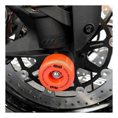 Tampons de protection de fourche R&G Racing orange KTM 790 Duke 18-20