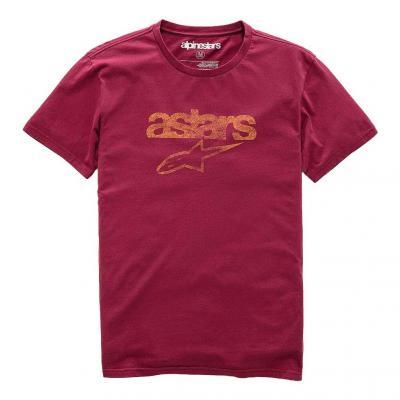 Tee-shirt Alpinestars Heritage Blaze Premium faded wine rouge