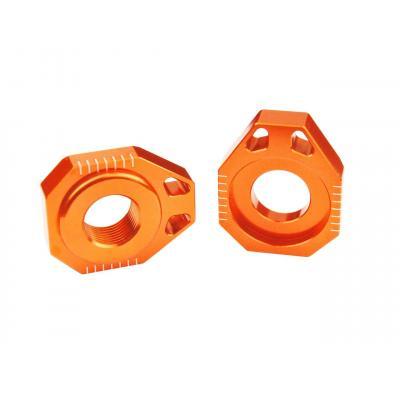 Tendeur de chaîne Scar aluminium anodisé orange pour KTM SX-F 125 13-15