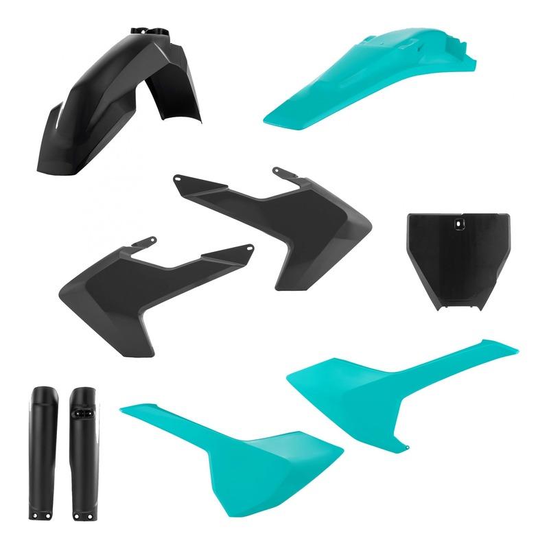 Kit plastiques complet Acerbis Husqvarna 250 FC 16-18 noir/vert4