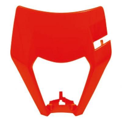Plastique plaque phare RTech KTM 125 EXC 17-19 orange fluo