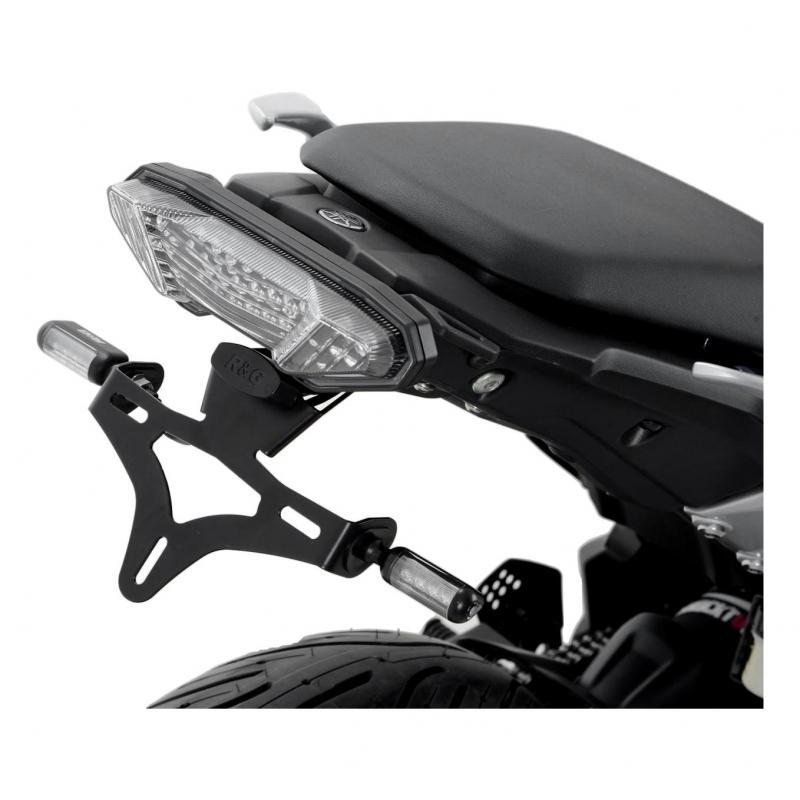 Support de plaque d'immatriculation R&G Racing noir KTM 990 Superduke R 04-14 avec micro clignotants