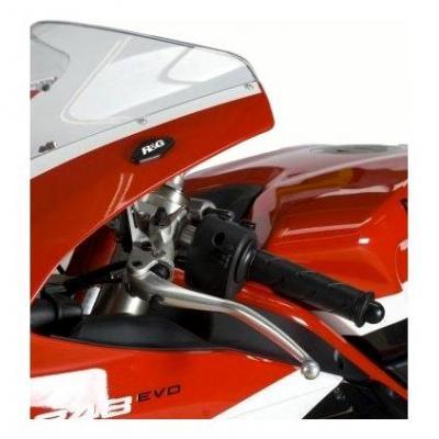 Caches orifices de rétroviseur R&G Racing noirs Kawasaki ZX-6R 09-12