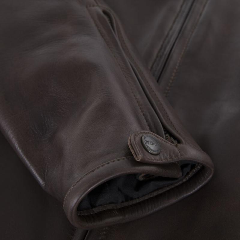 Blouson cuir Overlap RAINEY marron - 6