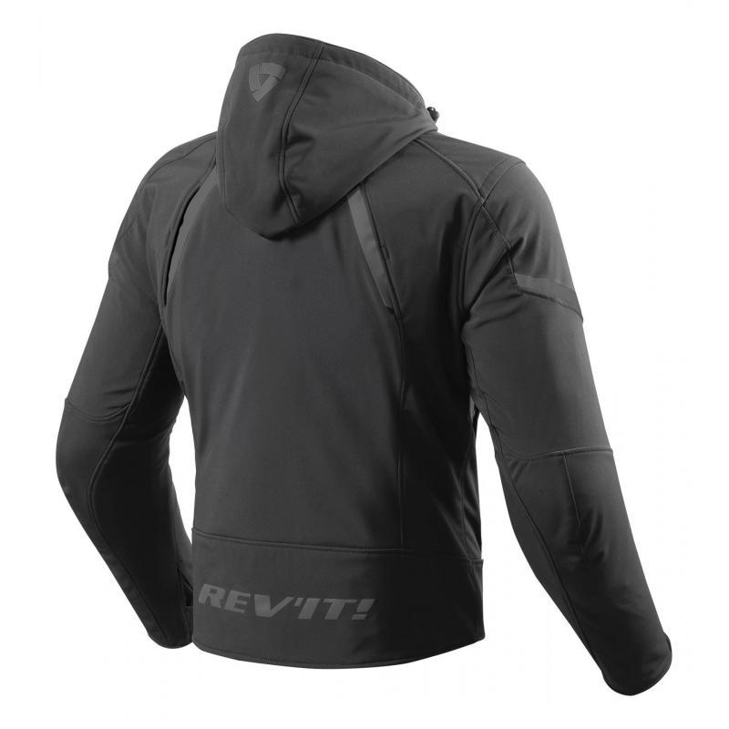 Blouson textile Rev'it Burn noir - 1
