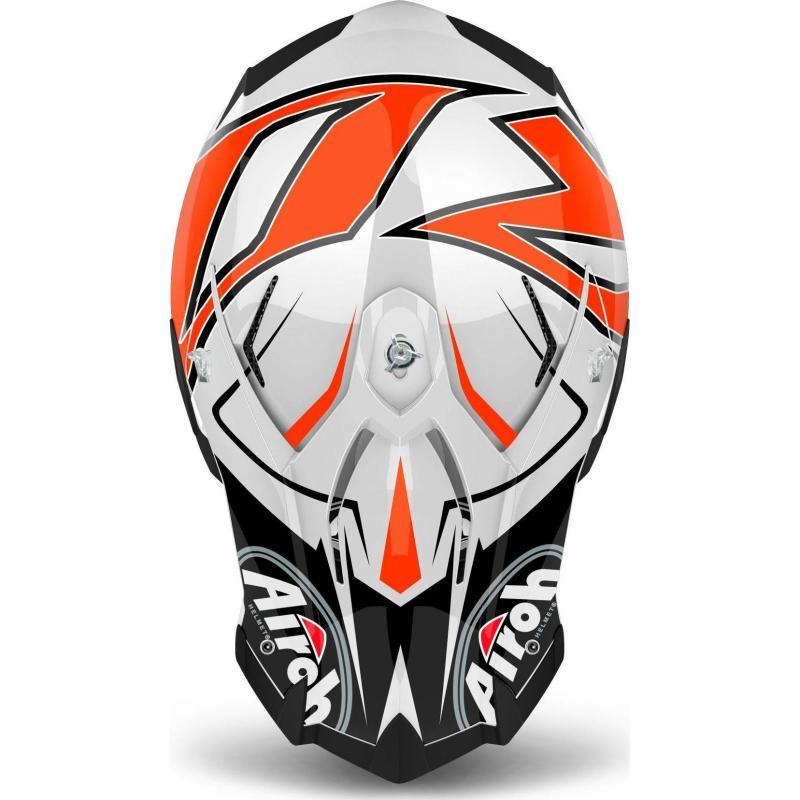 Casque cross Airoh Terminator Open Vison Shock orange - 3