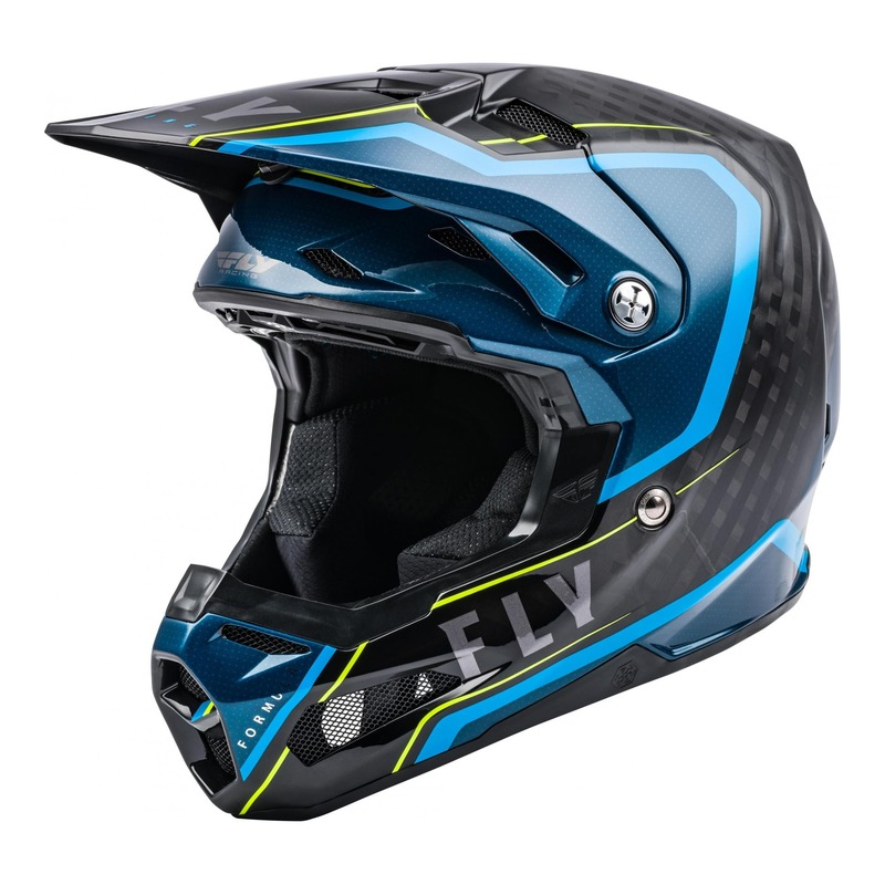 Casque cross Fly Racing Formula Carbone Axon noir/bleu