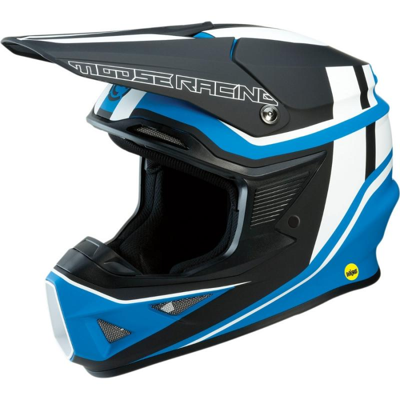 Casque cross Moose Racing FI Session Mips noir/bleu