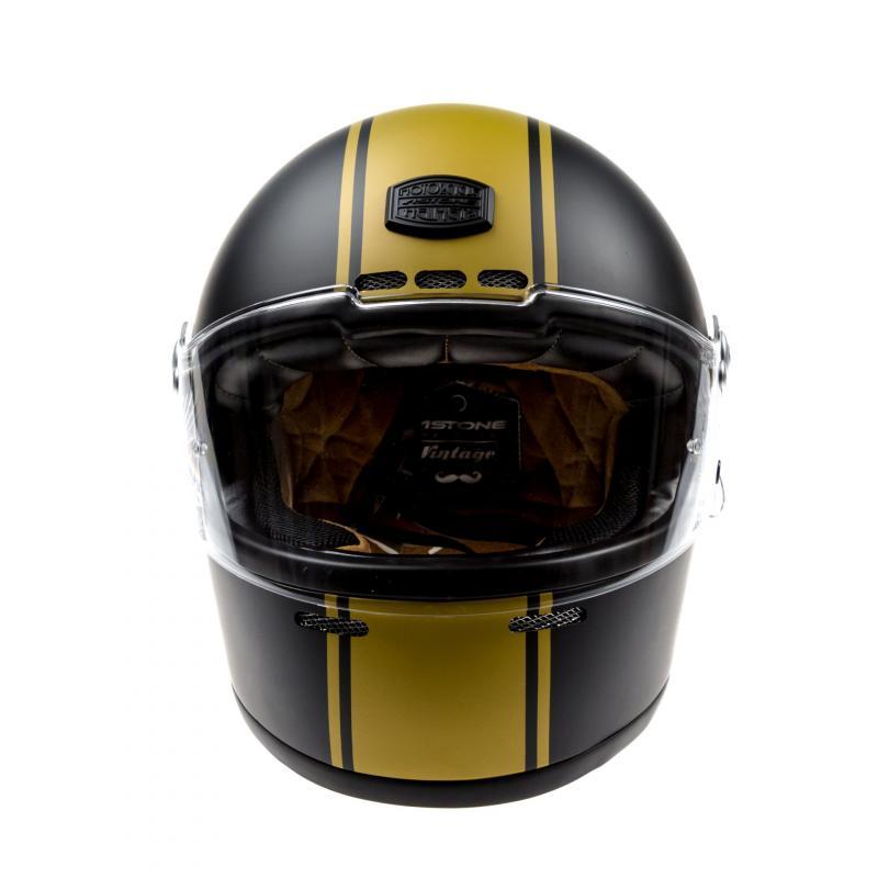 Casque intégral Astone VINTAGE GT RETRO mat noir/or - 3