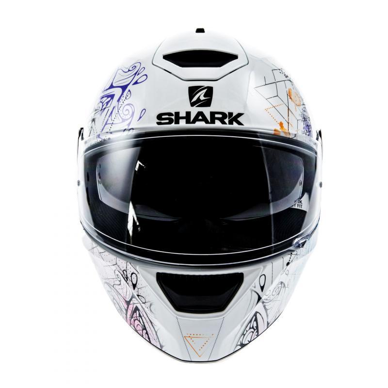 Casque intégral Shark D-SKWAL ANYAH blanc/noir/violet - 3