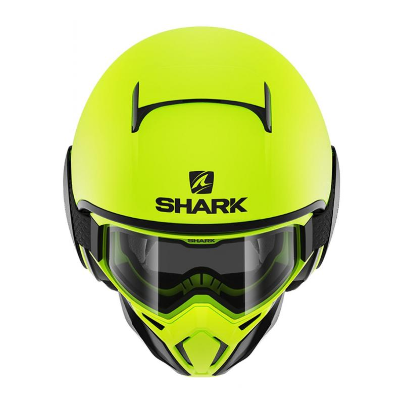 Casque jet Shark Street-Drak Neon Mat jaune/noir/noir - 2