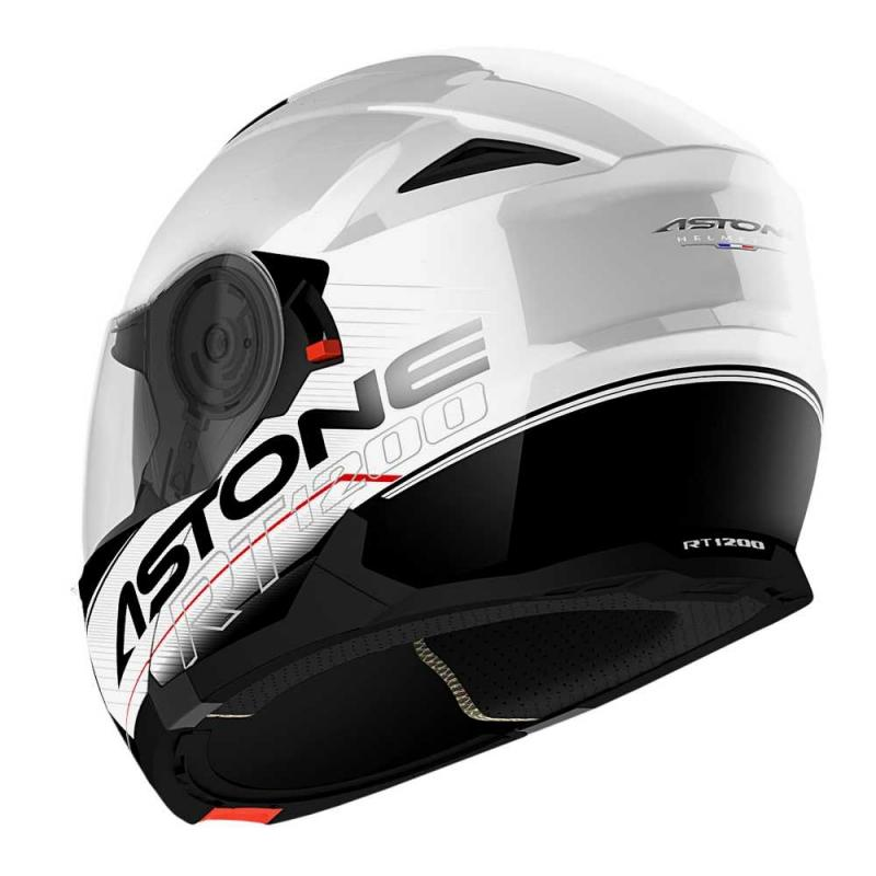 Casque Modulable Astone Rt 1200 Graphic Touring blanc/noir - 1