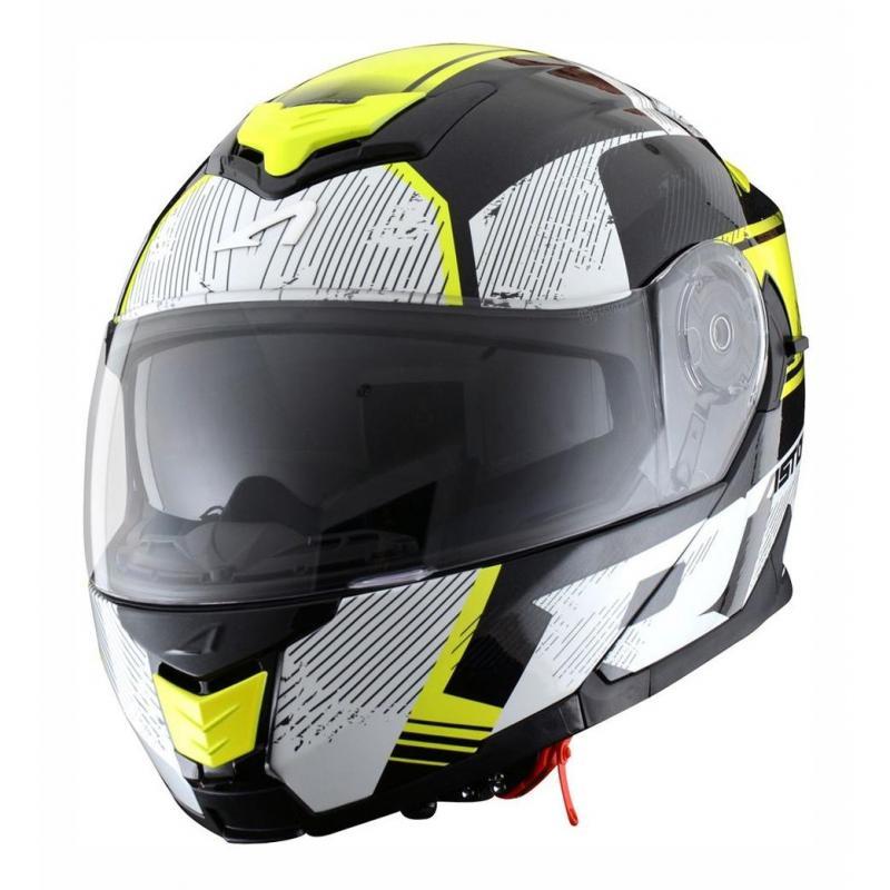 Casque modulable Astone RT 1200 graphic VIP noir/blanc/jaune fluo
