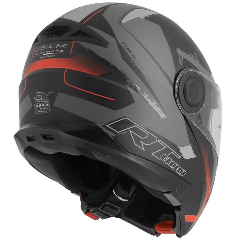 Casque modulable Astone RT800 exclusive ENERGY mat noir/rouge - 4
