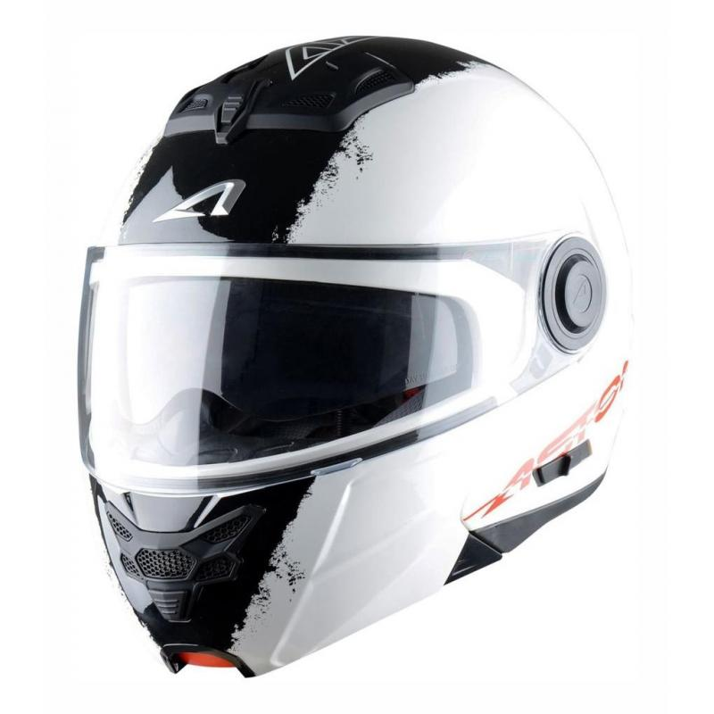 Casque Modulable Astone Rt800 Graphic Exclusive Stripes blanc/noir