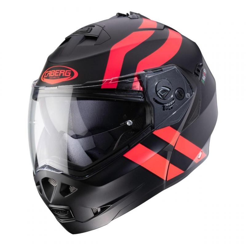 Casque modulable Caberg Duke II Superlegend noir/rouge