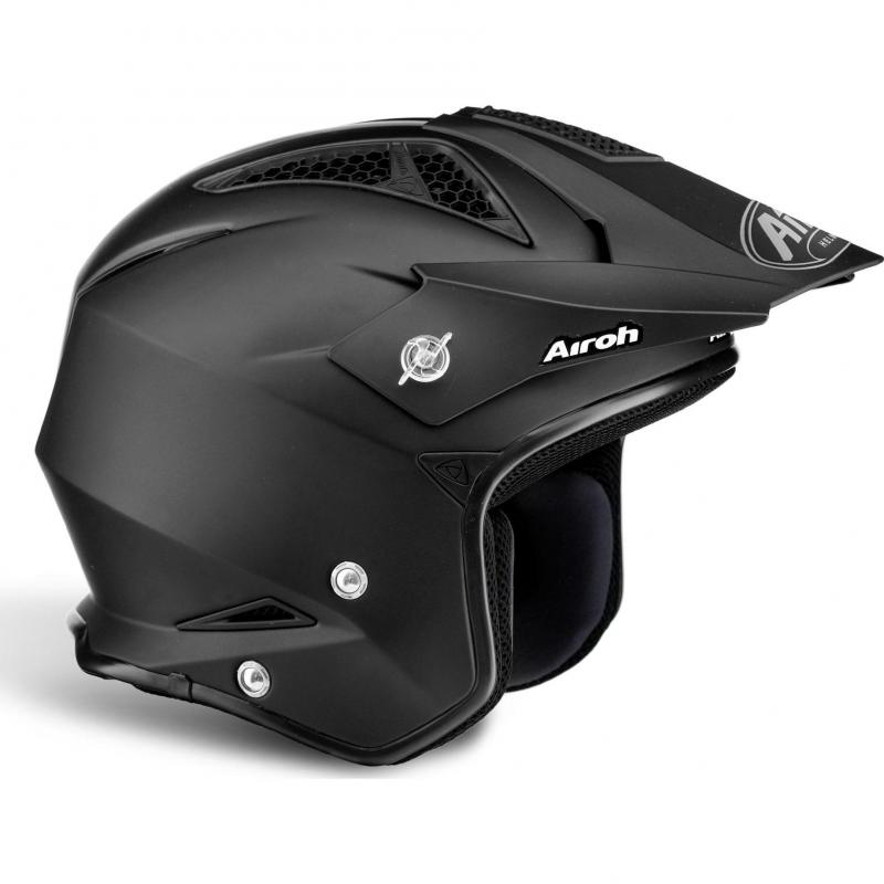 Casque trial Airoh TRR S Color noir mat - 1