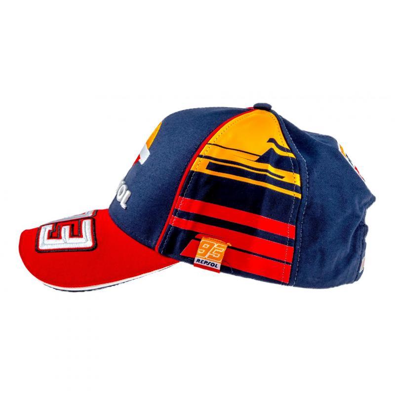 Casquette Baseball Andrea Repsol Marc Marquez navy/orange/rouge - 3