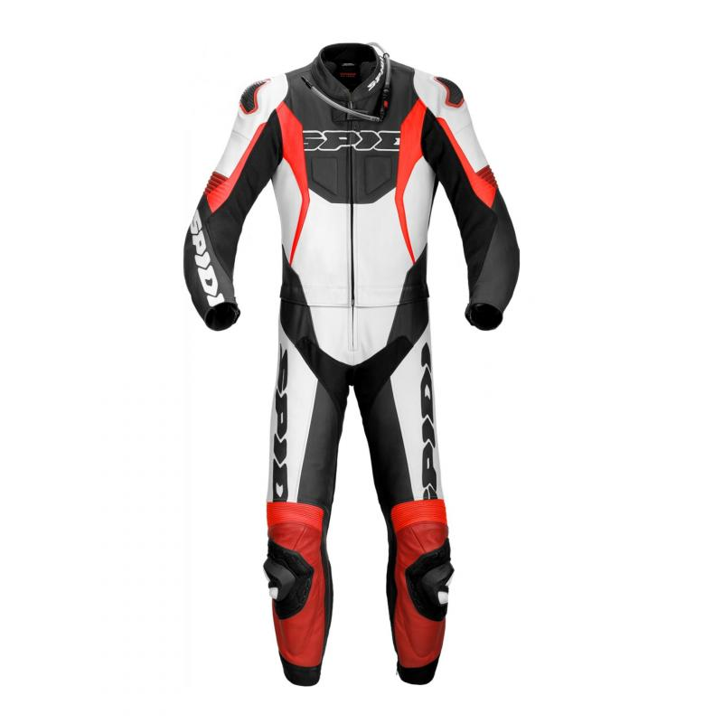 Combinaison 2 pièces cuir Spidi Sport Warrior Tour noir/rouge