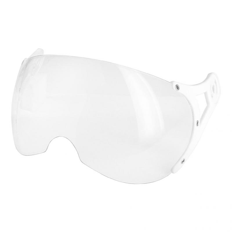 Ecran incolore casque jet Helios SB13B fixation blanche