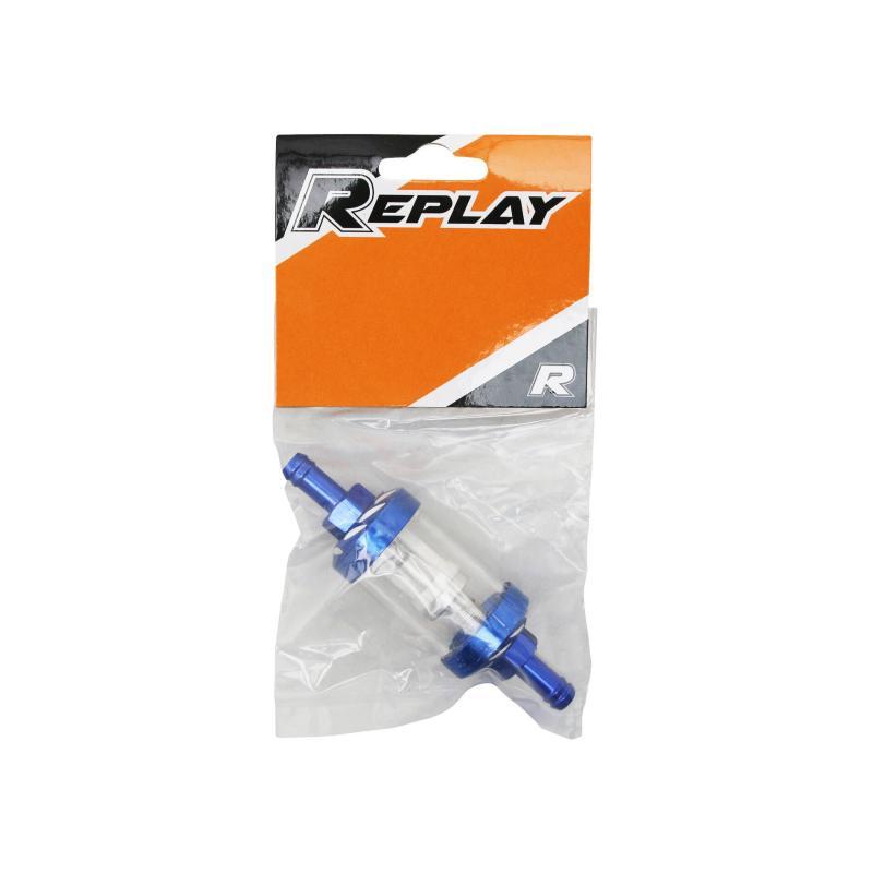 Filtre a essence Replay cylindrique alu transparent/bleu