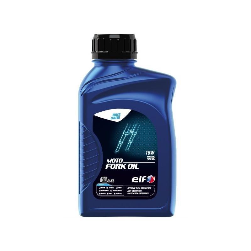 Huile de fourche Moto Fork Oil ELF minérale 15w