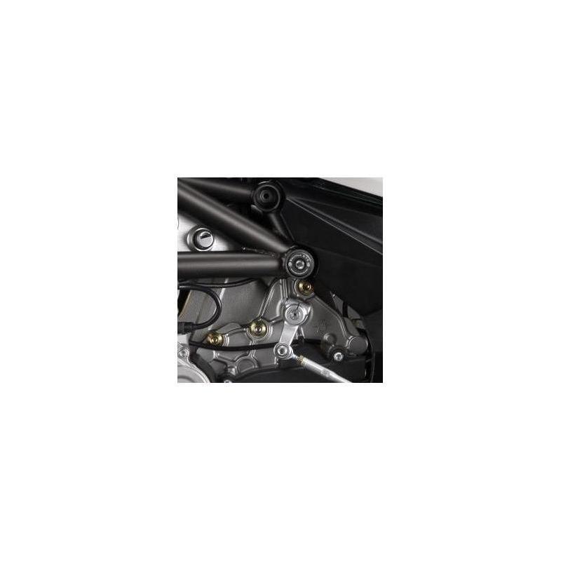 Insert de cadre R&G Racing inférieur gauche noir MV Agusta Brutale 675 12-16