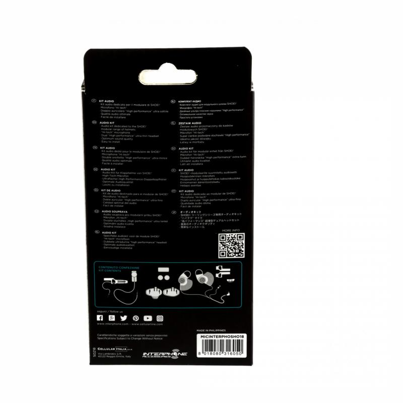 Kit audio Pro Sound Cellularline pour casques Shoei Neotec 2/NXR - 2