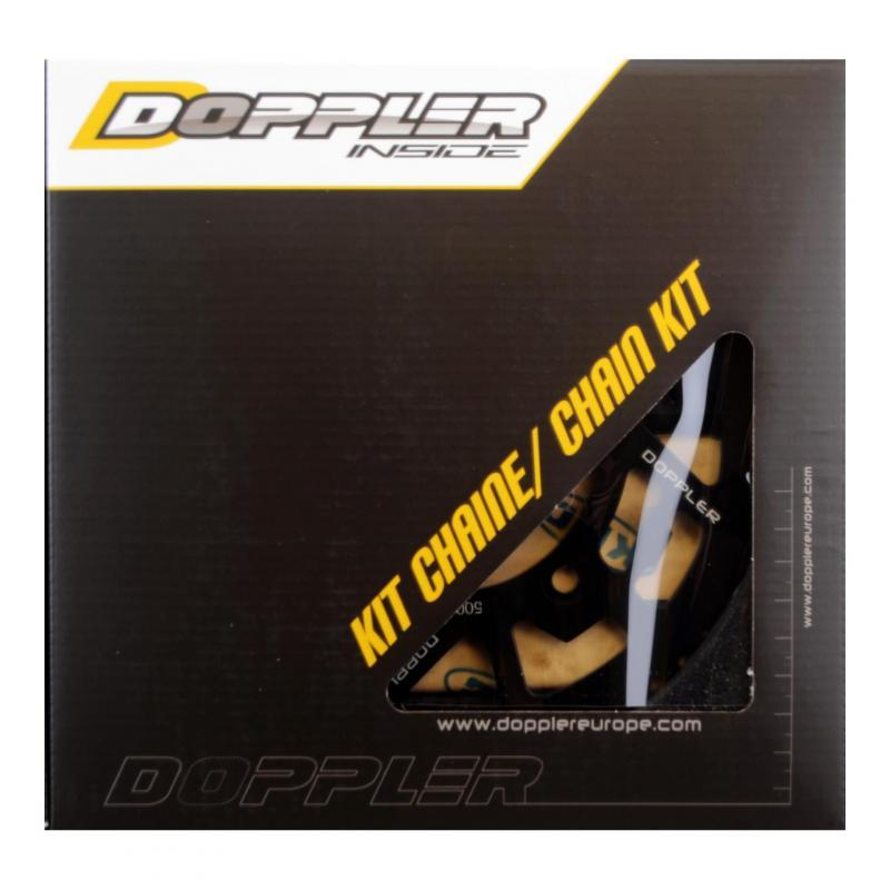 Kit chaîne Doppler 13x53 pas 428 Sherco Enduro / SM alu noir
