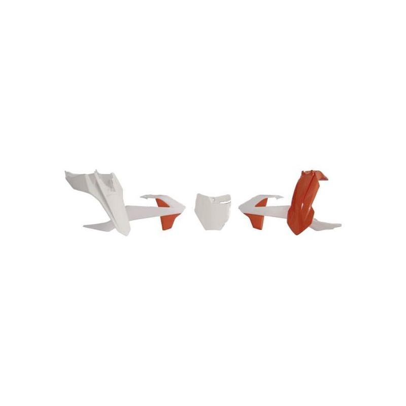 Kit plastique RTech KTM 65 SX 16-21 orange/blanc (couleur OEM 19-20)