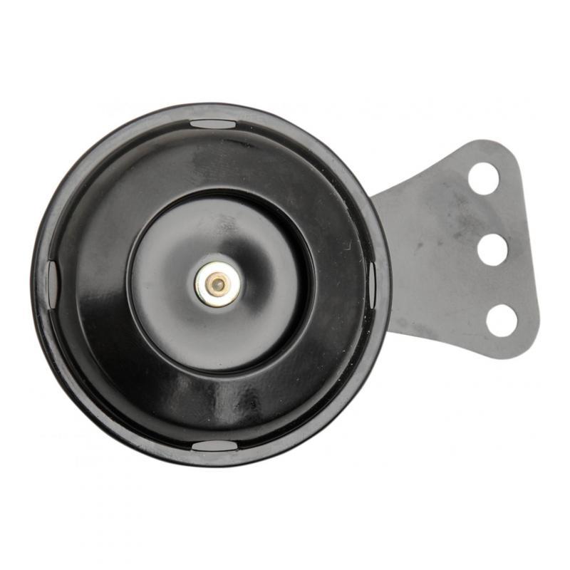 Klaxon Economy 12V K&S 105 dB universel Ø 70mm noir