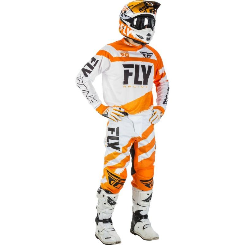 Maillot cross enfant Fly Racing F-16 orange/blanc - 2