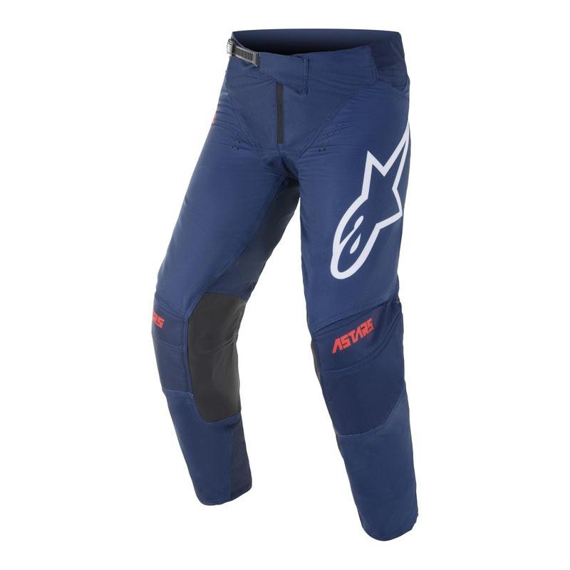 Pantalon cross Alpinestars Techstar Venom bleu foncé/rouge/blanc
