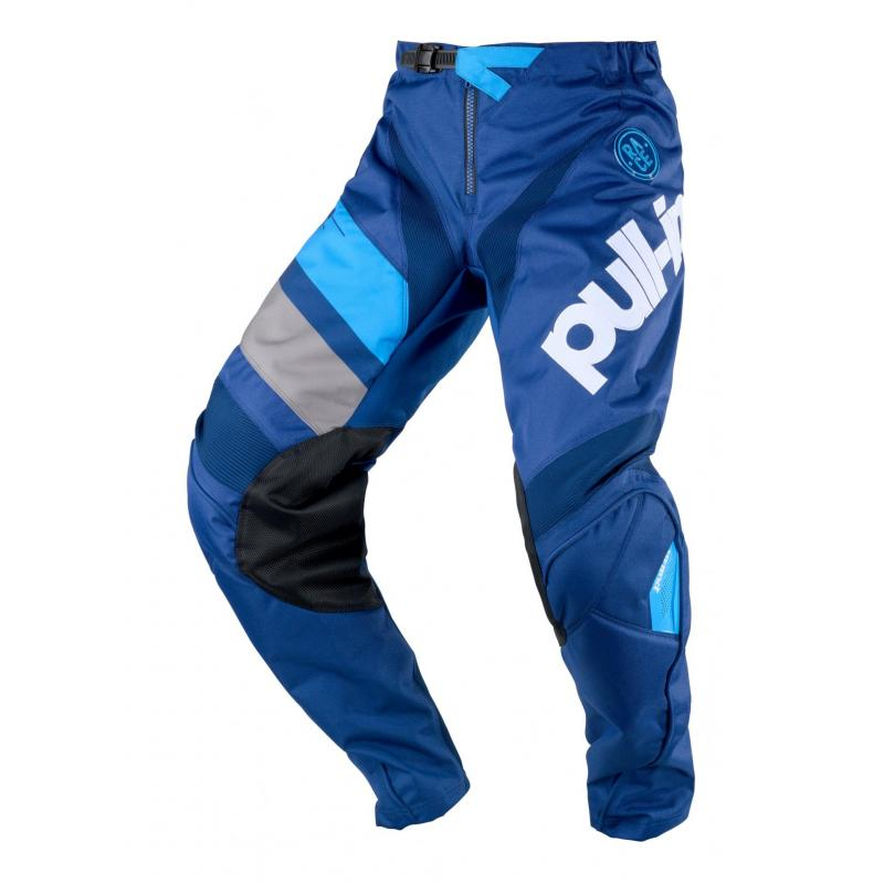 Pantalon cross enfant Pull-in Challenger Race navy/cyan