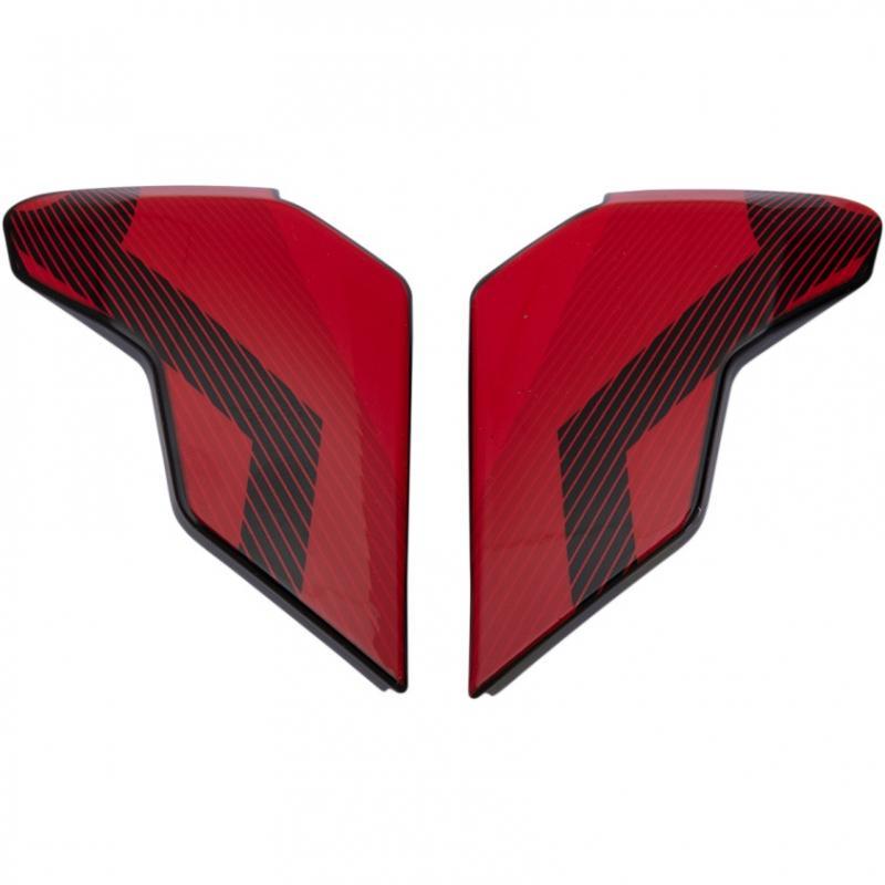 Plaques latérales Icon pour casque Airflite QB1 rouge
