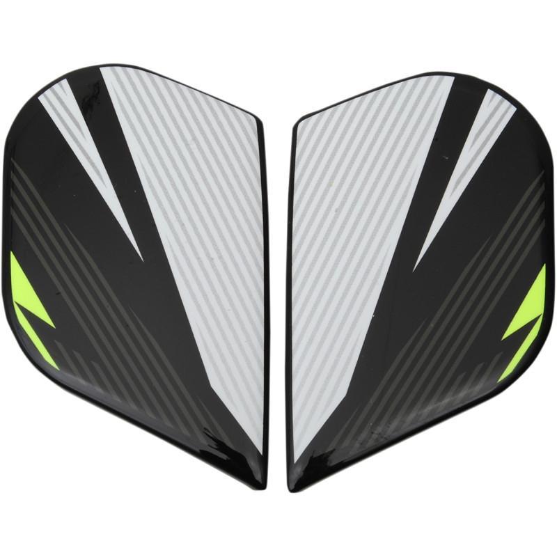 Plaques latérales Icon pour casque Alliance GT Primary gris/jaune