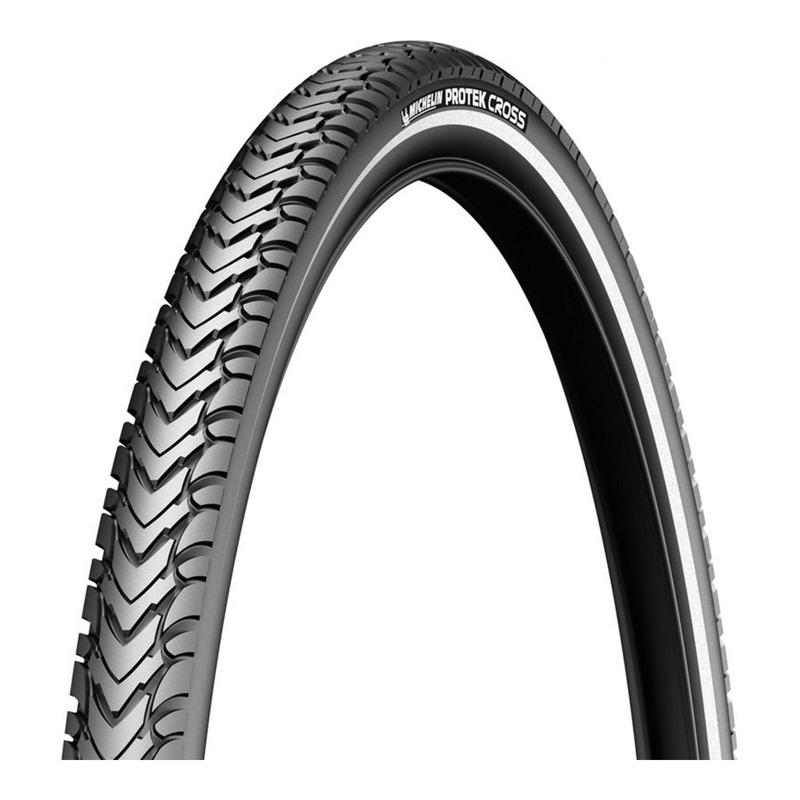 Pneu vélo VTT Michelin Protek Cross TR noir/flanc réfléchissant (26 X 1.60'')