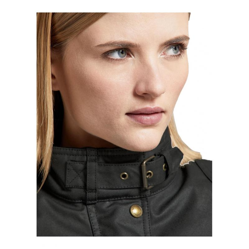 Veste textile femme Belstaff Trialmaster Pro Wax Racing Lady noir - 5