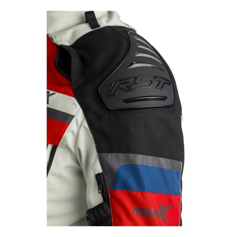Veste textile RST Adventure-X Ice/bleu/rouge - 4