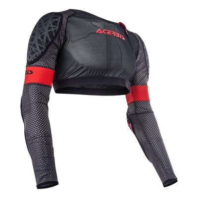 Gilet de protection court Acerbis Veste Galaxy noir/rouge