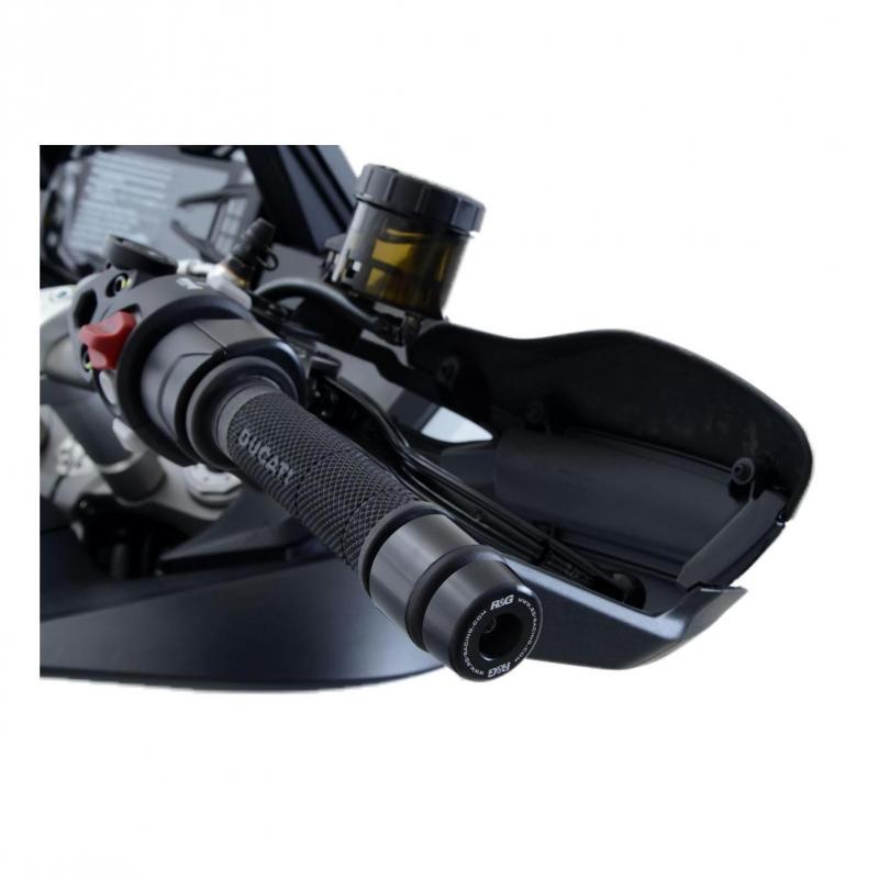Embouts de guidon R&G Racing noir Ducati Multistrada 1260 18-20