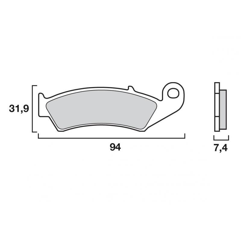 Plaquettes de frein Brembo carbone-céramique 07HO2506