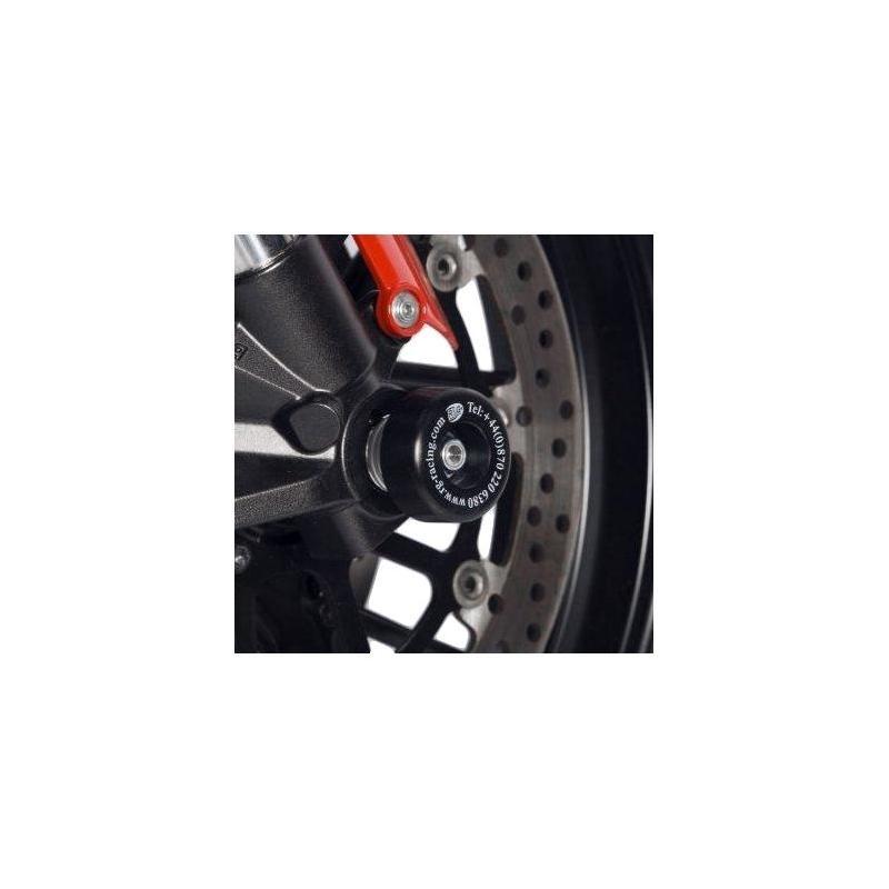 Tampons de protection de fourche R&G Racing noirs Kawasaki Ninja 250 08-13