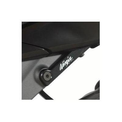 Cache orifice de repose-pieds arrière gauche R&G Racing noirs Kawasaki ZX-6R 09-17