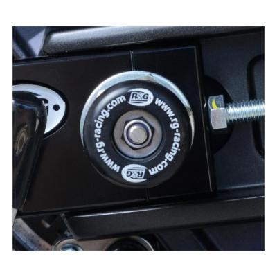 Diabolos de bras oscillant R&G Racing noir sur axe Yamaha T-Max 530 17-18
