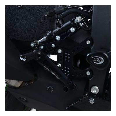 Commandes reculées R&G Racing noir Kawasaki ZX-6R 19-20