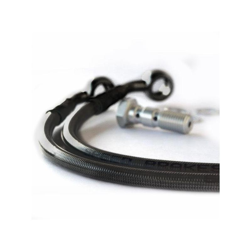Durite d'embrayage aviation carbone raccords noirs Ducati 916 94-98