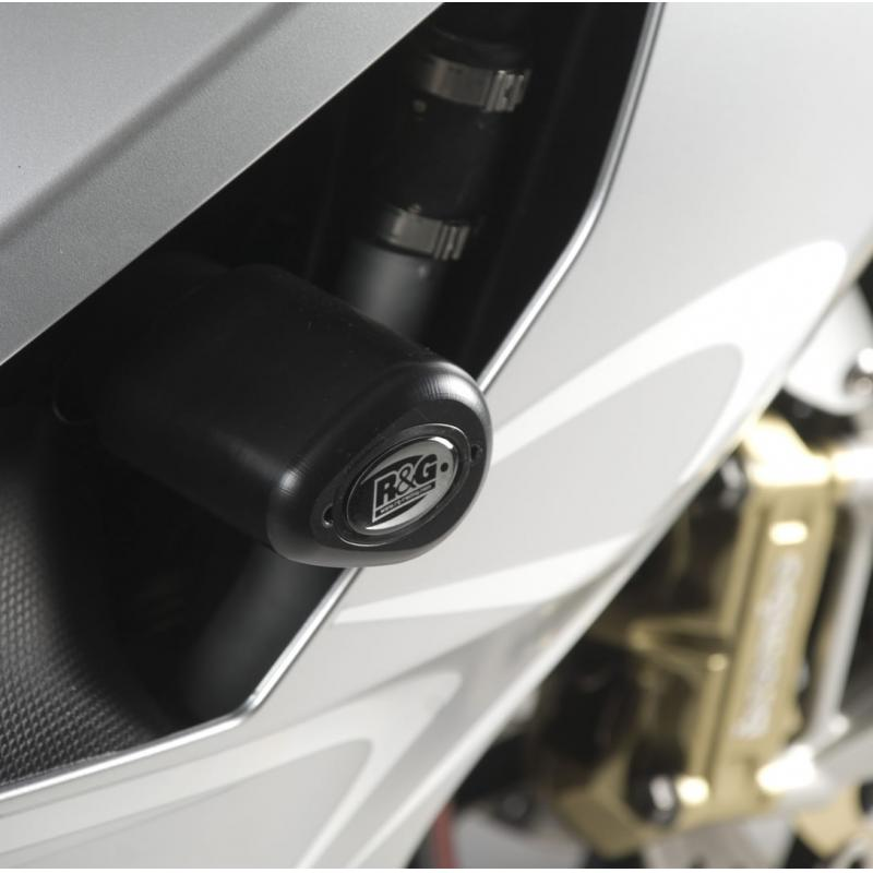 Tampons de protection R&G Racing Aero noir Aprilia RSV 1000 R 04-05