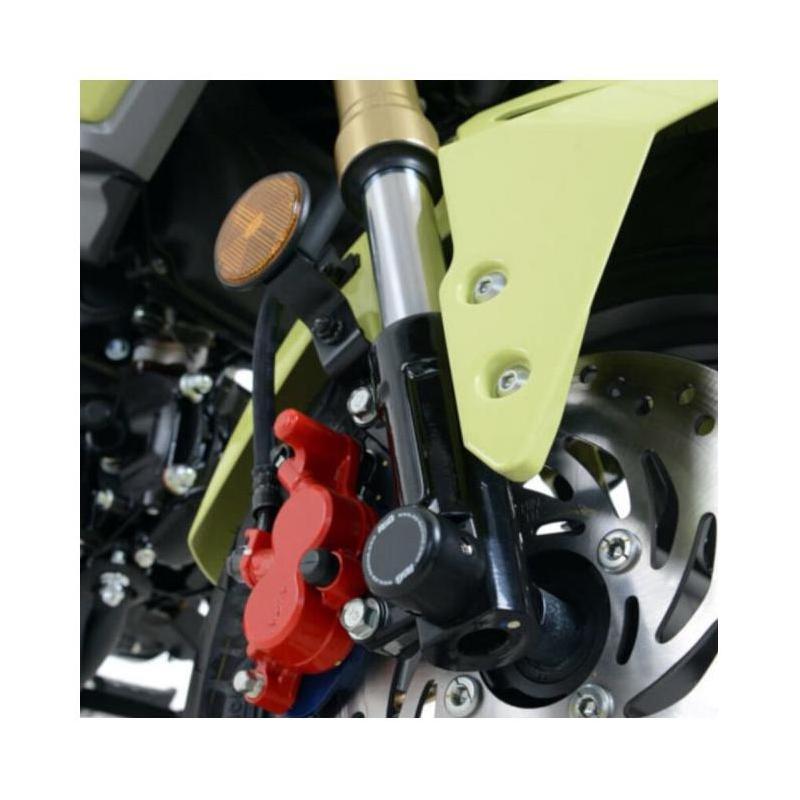 Tampons de protection de fourche R&G Racing noirs Honda CBR 125 R 11-17